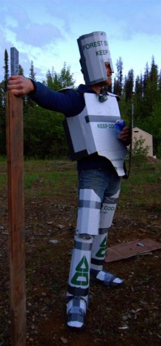 Artisan - cardboard man